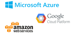 Azure, AWS and Google Cloud
